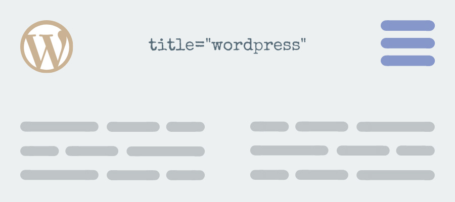 how to add WordPress title attribute