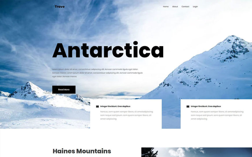 trave free html5 travel agency template